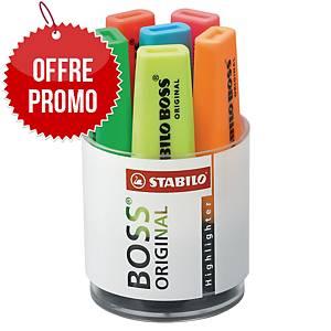 Surligneur Stabilo Boss Original - coloris assortis - pot de 6