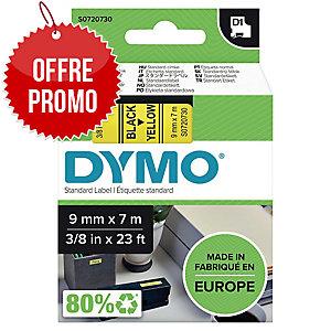 Ruban Dymo 9 mmx7 m, noir/jaune (40918)