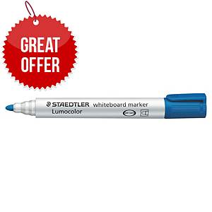 Staedtler Lumocolour 351 Whiteboard Markers Blue - Pack Of 10