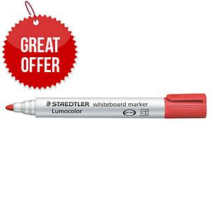 Staedtler Lumocolour 351 Whiteboard Markers Red - Pack Of 10
