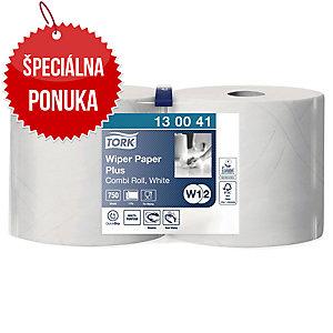 Priemyselné utierky v kotúči Tork 130041 biele, 2 kusy