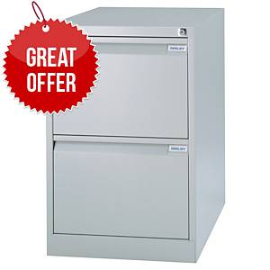 Bisley 2-Drawer Metal Filing Cabinet 711 X 470 X 622mm - Grey