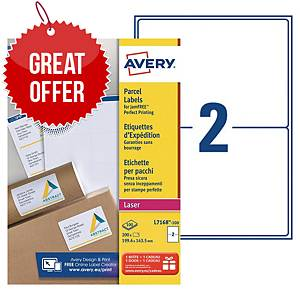 Avery L7168 laser labels Jam Free 199,6x143,5mm - box of 200