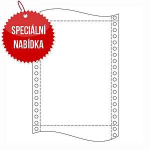 Papír do jehličkových tiskáren  60g/m2, 1+0 vrstev, šířka 250mm, délka 12´´