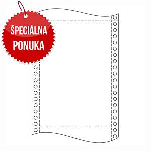 Papier do ihličkových tlačiarní, 54 g/m², 25 x 30,5 cm, 1+3 vrstvy