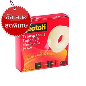 SCOTCH เทปใส6003/4นิ้ว x 36หลา แกน1 นิ้ว