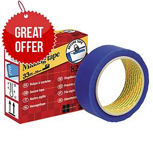 Scotch 820 Adhesive Secure Tape 35mm X 35M - Blue
