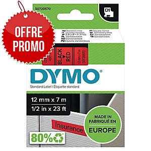 RUBAN DYMO 12 MM D1 NOIR/ ROUGE 45017