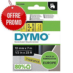 RUBAN DYMO 12 MM D1 NOIR/JAUNE 45018