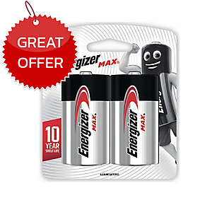 ENERGIZER MAX E95 ALKALINE MAX BATTERIES PACK OF 2