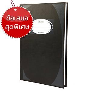 ตราช้าง สมุดบันทึกมุมมัน HC-101 70 แกรม 100 แผ่น สีดำ