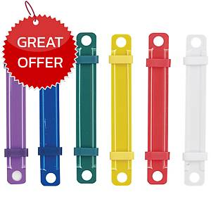 DIAMOND Plastic Fastener Assorted Colours - Pack of 50