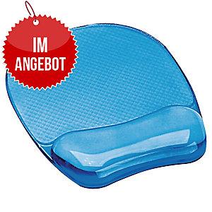 Handgelenkauflage mit Mauspad Fellowes Crystals Gel 9114120, gelgefüllt, blau