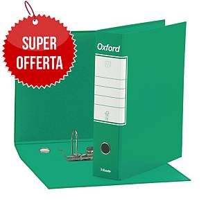 Registratore a leva Esselte Oxford cartone dorso 8 cm commerciale verde