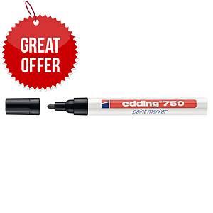 Edding 750 Bullet Tip Black Paint Marker