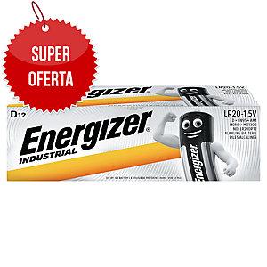 Baterie alkaliczne  ENERGIZER® Industrial D, w opakowaniu 12 sztuk