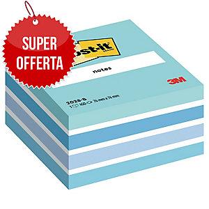 FOGLIETTI POST-IT® ADESIVO STANDARD: CUBO DA 450 FOGLI 76x76MM PASTELLO BLU