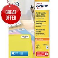 Avery L7654-100 Labels, 45.7 x 25.4 mm 40 Labels Per Sheet, 4000 Labels Per Pack