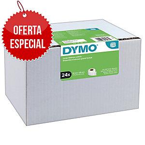 Pc24 fitas 260 labels DYMO 89x36 branco