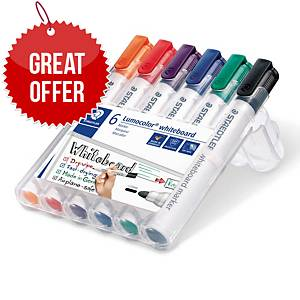 Staedtler 351 Whiteboard Markers Asst - Pack Of 6