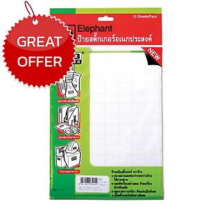 ELEPHANT A3 LABEL 13MM X 19MM 112 LABEL/SHEET - PACK OF 15 SHEETS
