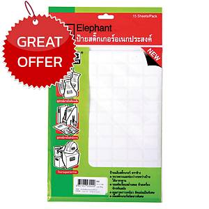 ELEPHANT A4 LABEL 16MM X 21MM 84 LABEL/SHEET - PACK OF 15 SHEETS
