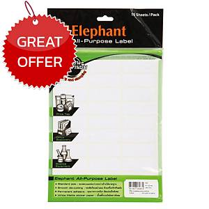 ELEPHANT A9 LABEL 19MM X 50MM 30 LABEL/SHEET - PACK OF 15 SHEETS