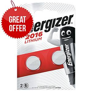 ENERGIZER WATCH BATTERIES CR2016 - PACK OF 2