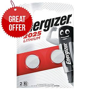 Energizer CR2025 Watch Battery - Pack of 2