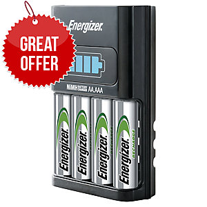 ENERGIZER ULTRA FAST 1HOUR CHARGER W/4 LR6/AA EU PLUG