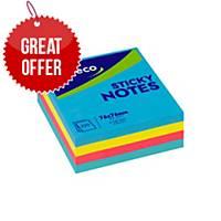 Lyreco Fashion Sticky Notes 75x75mm Cube 320-Sheet Asst