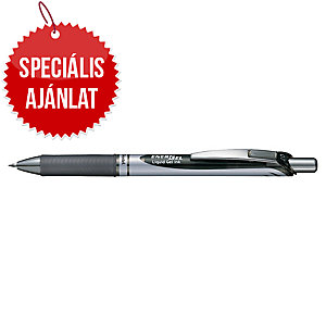 Pentel Energel BL 77 zselés toll, nyomógombos, 0,7 mm, fekete