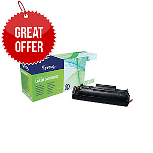 LYRECO HP Q2612 COMPATIBLE LASER TONER CARTRIDGE - BLACK - PACK JUMBO