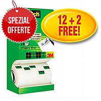 Klebeband Scotch Magic 810, 19 mmx33 m, beschriftbar, 12+2 gratis, Pk. à 14 Stk.