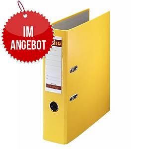 Bene Standardordner A4 gelb, Rückenbreite: 8 cm