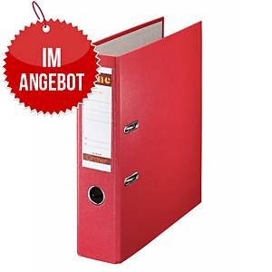Bene 291400 Standardordner A4, rot, Rückenbreite: 8 cm