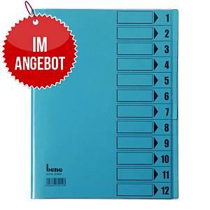 Bene Ordnungsmappe 12-teilig A4 blau