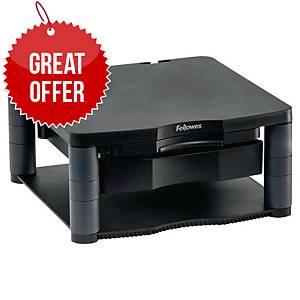 Fellowes 9169501 Plus monitor riser adjustable height gray + document holder
