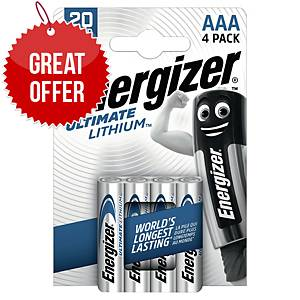Energizer AAA / LR3 Ultimate Lithium - Pack of 4