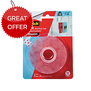 SCOTCH CAT4010 MOUNTING TAPE 21MM X 4M CLEAR