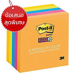 POST-ITซูเปอร์สติกกี้โน๊ต 654-5SSUC 3  X3   บรรจุ 90แผ่น คละสี 1แพ็ค บรรจุ 5เล่ม