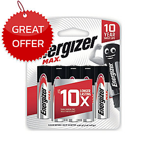 ENERGIZER MAX E91 ALKALINE BATTERIES AA PACK OF 8