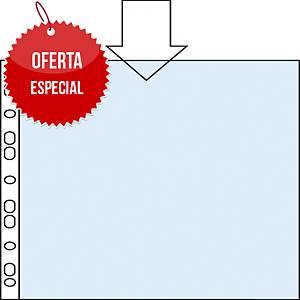 Pack de 100 fundas multitaladro Esselte - folio - PP rugoso - 80 μ