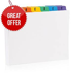 A-Z Guide Cards 127 X 76mm - Pack of 25