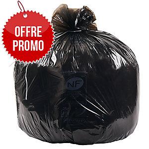 Carton de 200 sacs poubelle economiques 130L noir 24 microns120X82