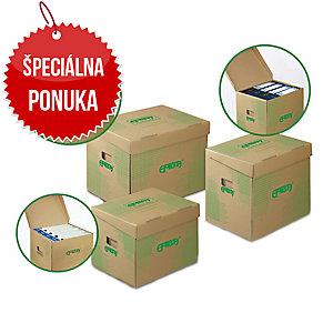 Archivačné úložné krabice Emba 33 x 30 x 29,5 cm prírodné, balenie 10 kusov