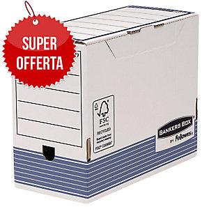 SCATOLE PER ARCHIVIO BANKERS BOX FELLOWES IN CARTONE A4 MAXI DORSO 15 - CONF. 10