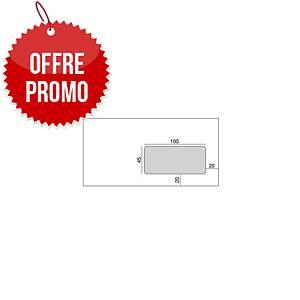 Enveloppe Lyreco 110 x 220 - 80 g - siliconée - fenêtre 45 x 100 - par 500