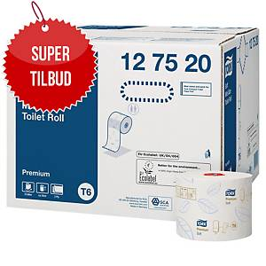 Toiletpapir Tork T6 Premium Kompakt, 2-lag, karton a 27 ruller