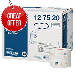 TORK COMPACT TOILET ROLL 2 PLY WHITE 100M  - PACK OF 27 ROLLS